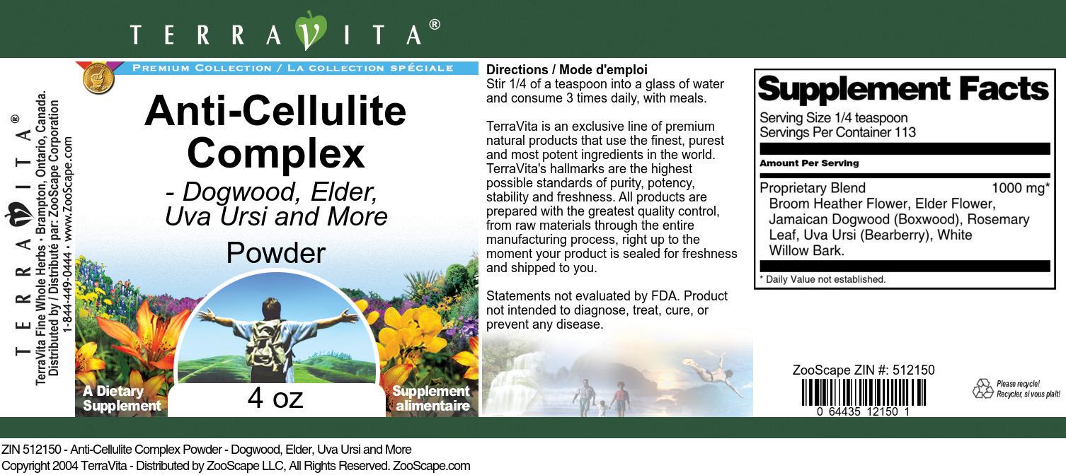 Anti-Cellulite Complex Powder - Dogwood, Elder, Uva Ursi and More