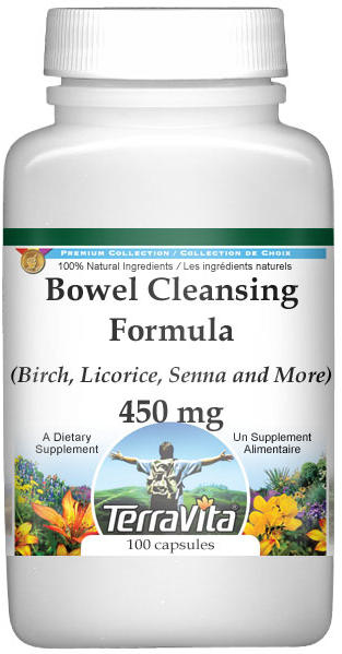 Bowel Cleansing Formula - Birch, Licorice, Senna and More - 450 mg