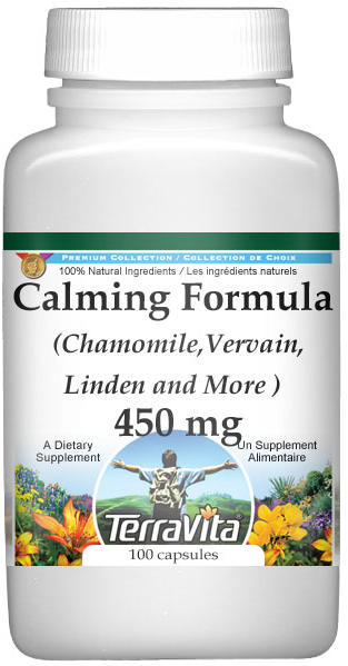 Calming Formula - Chamomile, Vervain, Linden and More - 450 mg