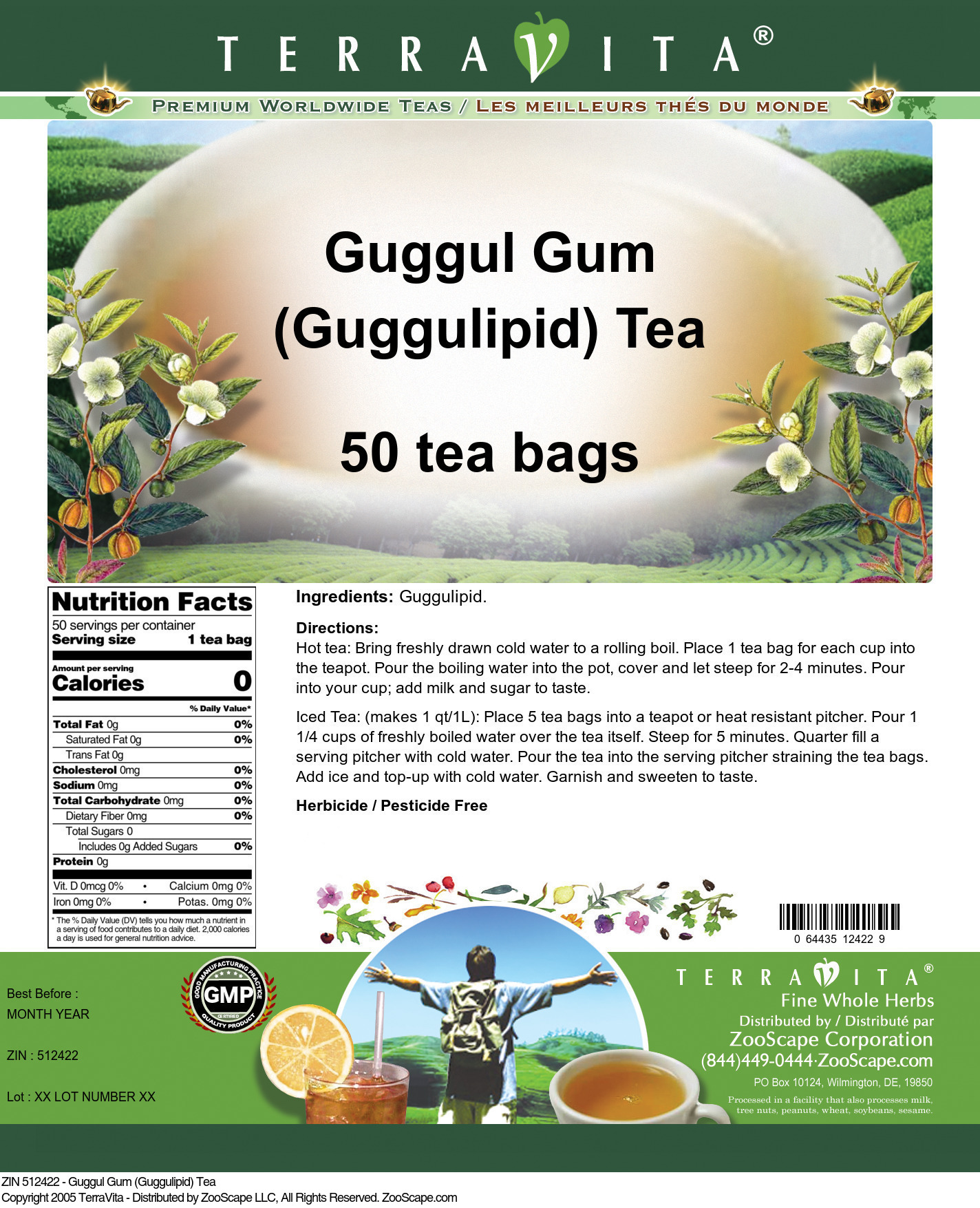 Guggul Gum (Guggulipid) Tea