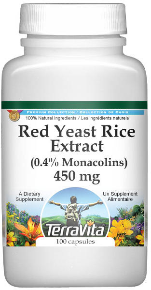 Red Yeast Rice Extract (0.4% Monacolins) - 450 mg