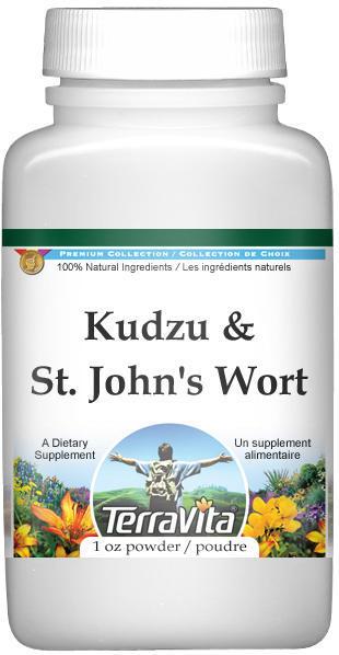 Kudzu and St. John's Wort Combination Powder