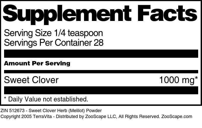 Sweet Clover Herb (Melilot) Powder
