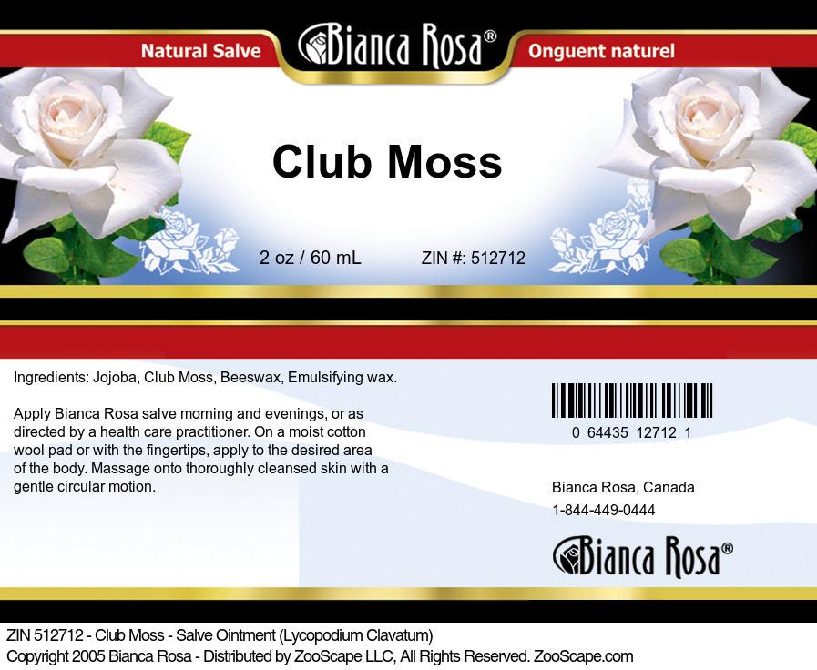 Club Moss - Salve Ointment (Lycopodium Clavatum)