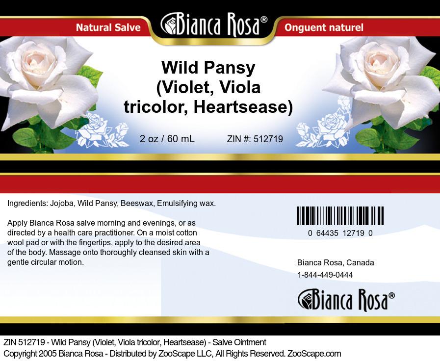 Wild Pansy (Violet, Viola tricolor, Heartsease) - Salve Ointment