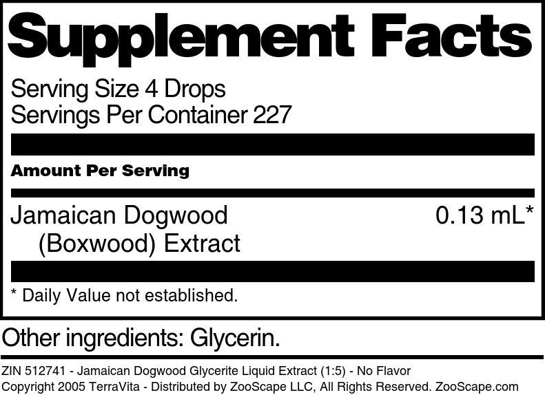 Jamaican Dogwood Glycerite Liquid Extract (1:5)