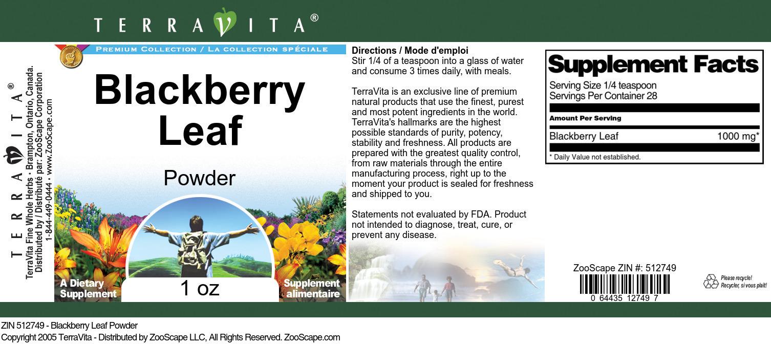 Blackberry Leaf Powder