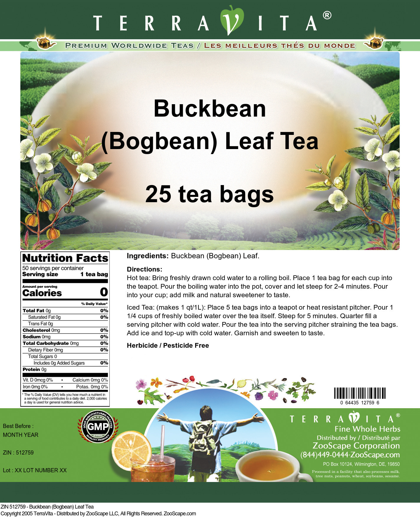 Buckbean (Bogbean) Leaf Tea