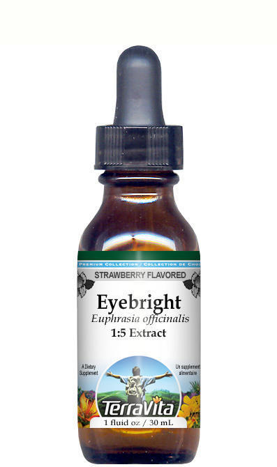 Eyebright Glycerite Liquid Extract (1:5) - Strawberry Flavored