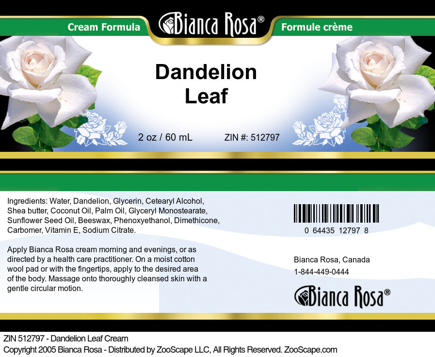 Dandelion Leaf Cream