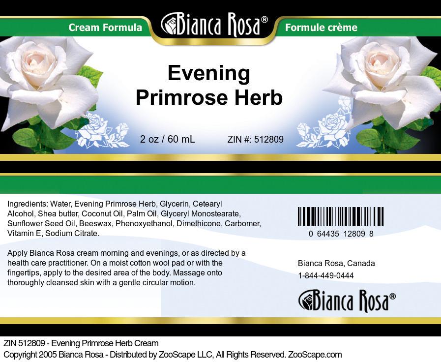 Evening Primrose Herb Cream