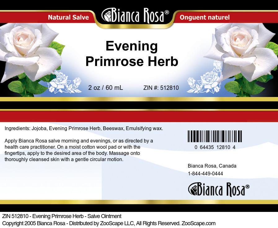 Evening Primrose Herb - Salve Ointment