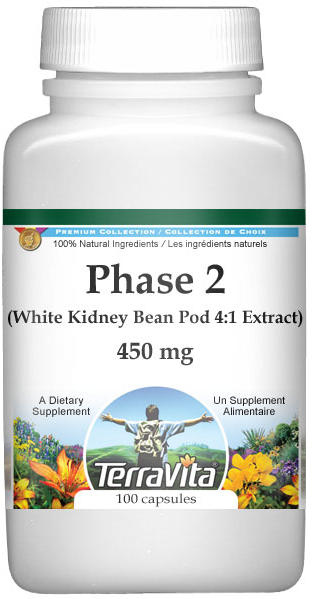Phase 2 (White Kidney Bean Pod 4:1 Extract) - 1800 mg