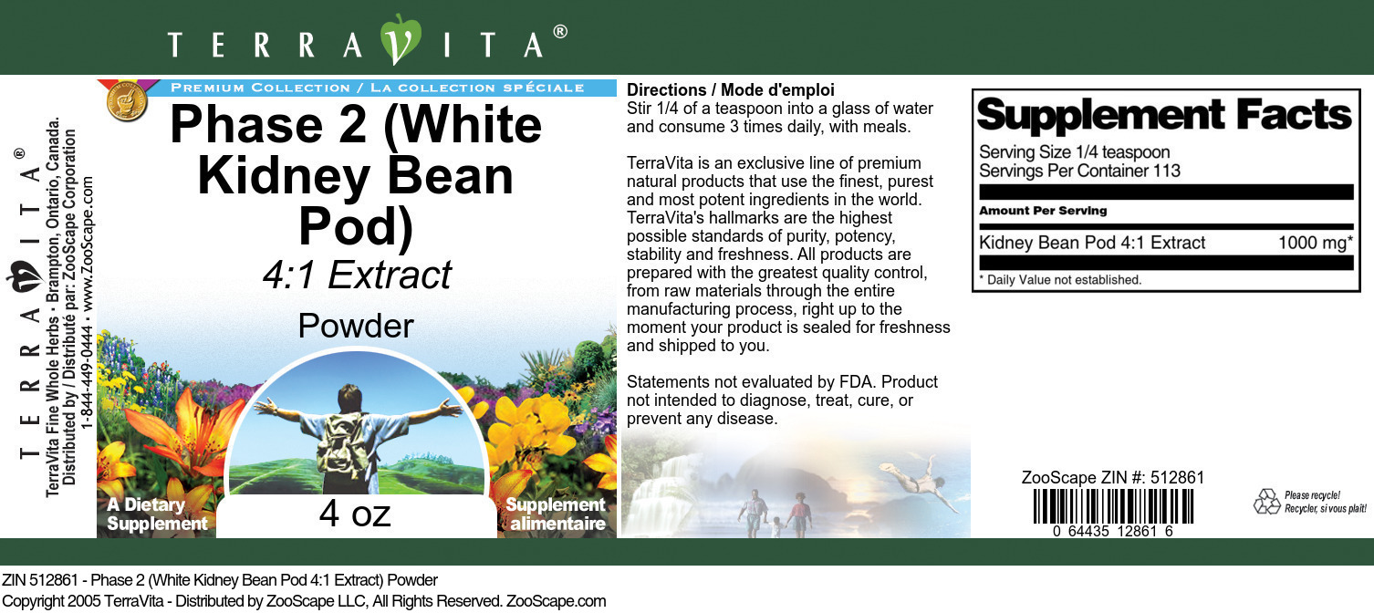 Phase 2 (White Kidney Bean Pod 4:1 Extract) Powder
