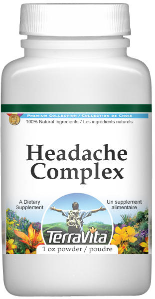 Headache Complex Powder - Feverfew and White Willow Bark