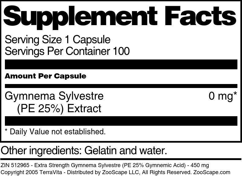 Gymnema Sylvestre <BR>(PE 25%) Extract