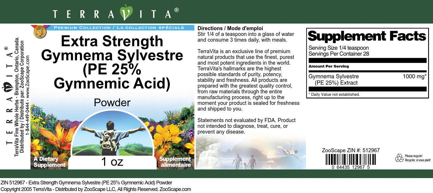 Extra Strength Gymnema Sylvestre (PE 25% Gymnemic Acid) Powder