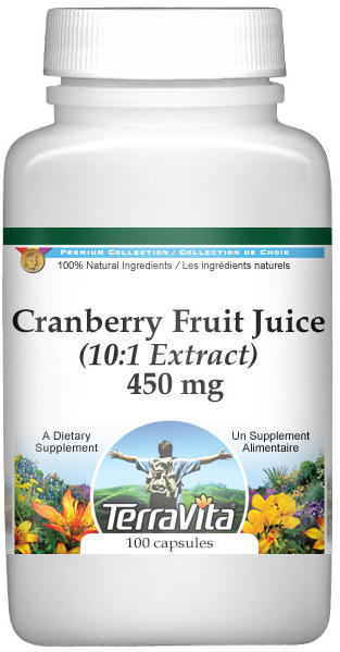 Extra Strength Cranberry Fruit Juice 10:1 Extract - 450 mg