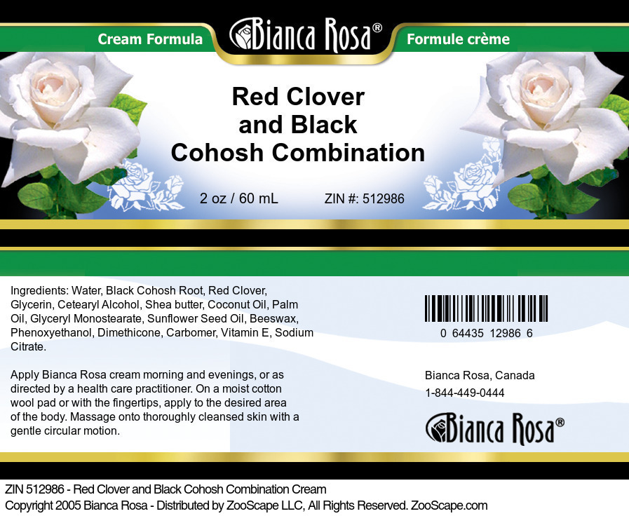 Red Clover and Black Cohosh Combination Cream