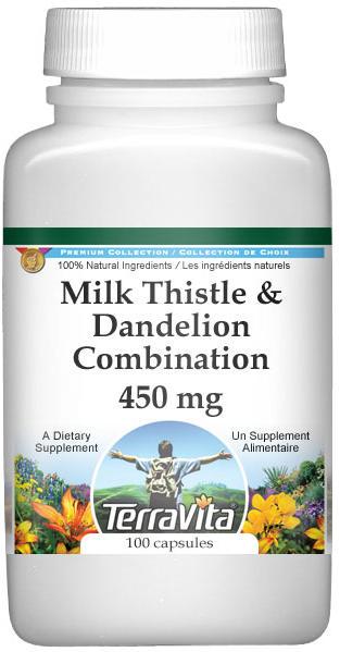 Milk Thistle and Dandelion Combination - 450 mg