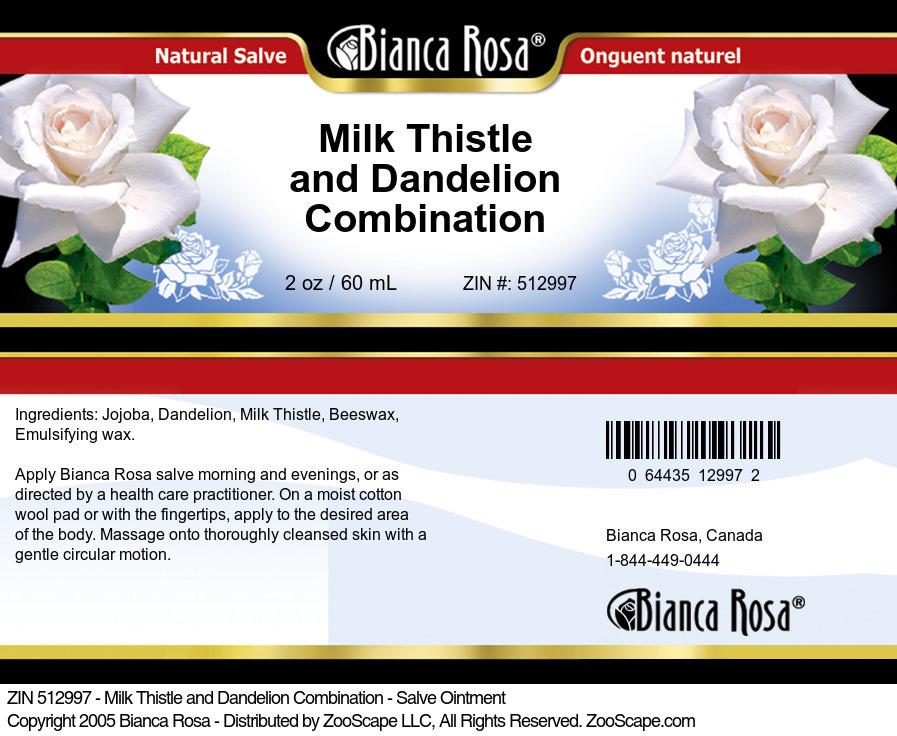 Milk Thistle and Dandelion Combination - Salve Ointment
