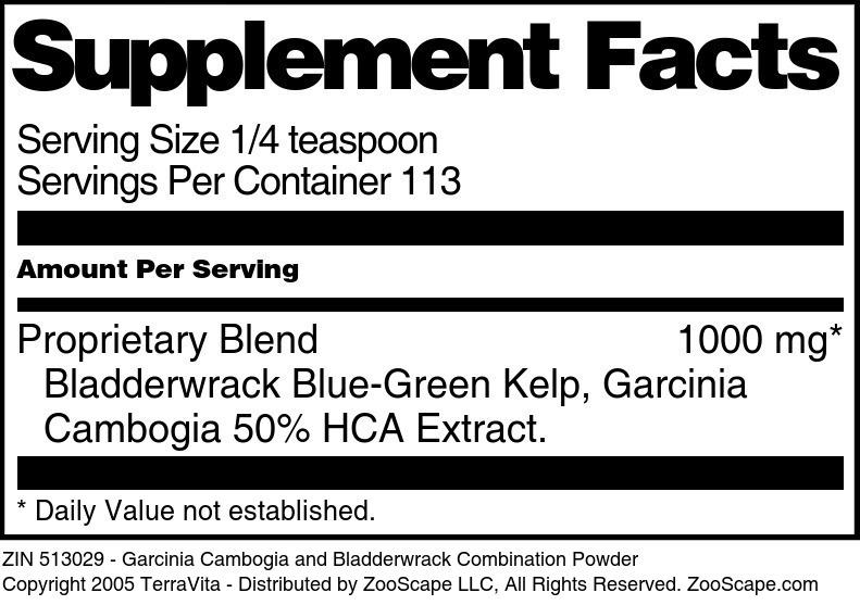 Garcinia Cambogia and Bladderwrack Combination Powder