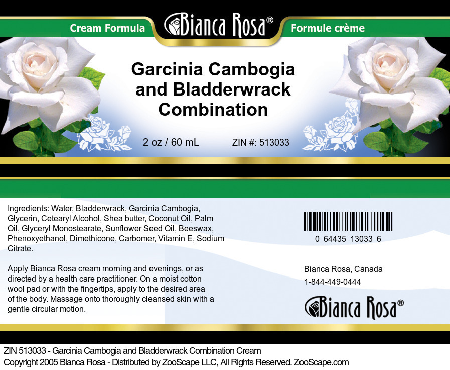Garcinia Cambogia and Bladderwrack Combination Cream