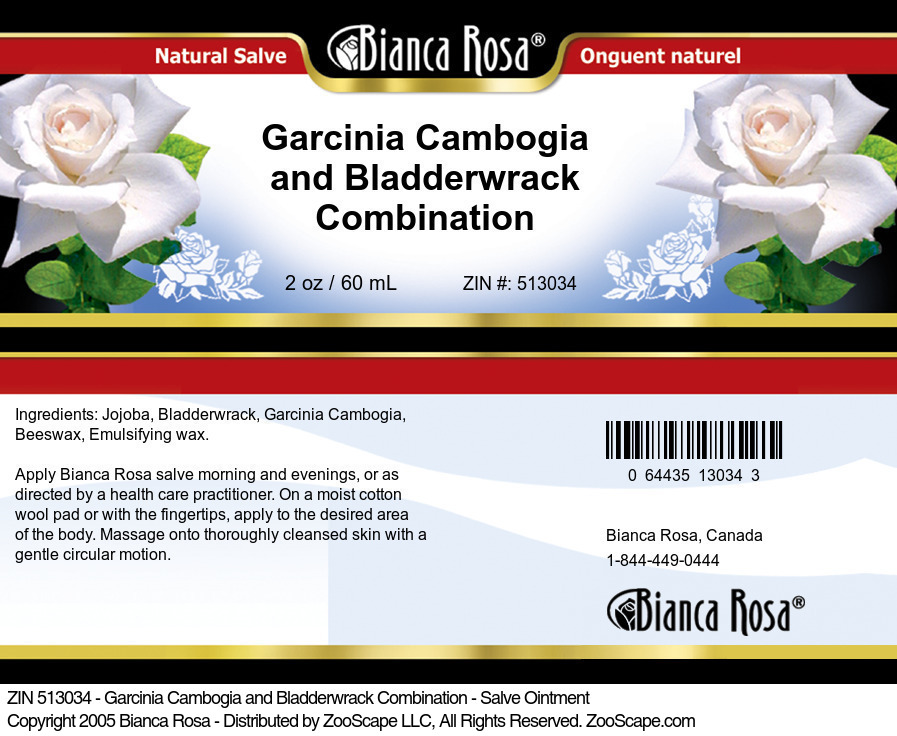 Garcinia Cambogia and Bladderwrack Combination - Salve Ointment