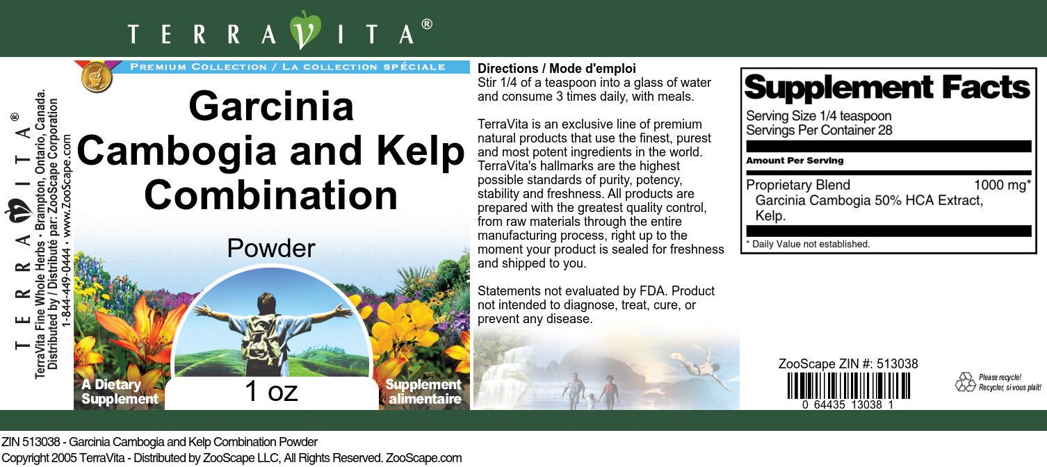 Garcinia Cambogia and Kelp Combination Powder