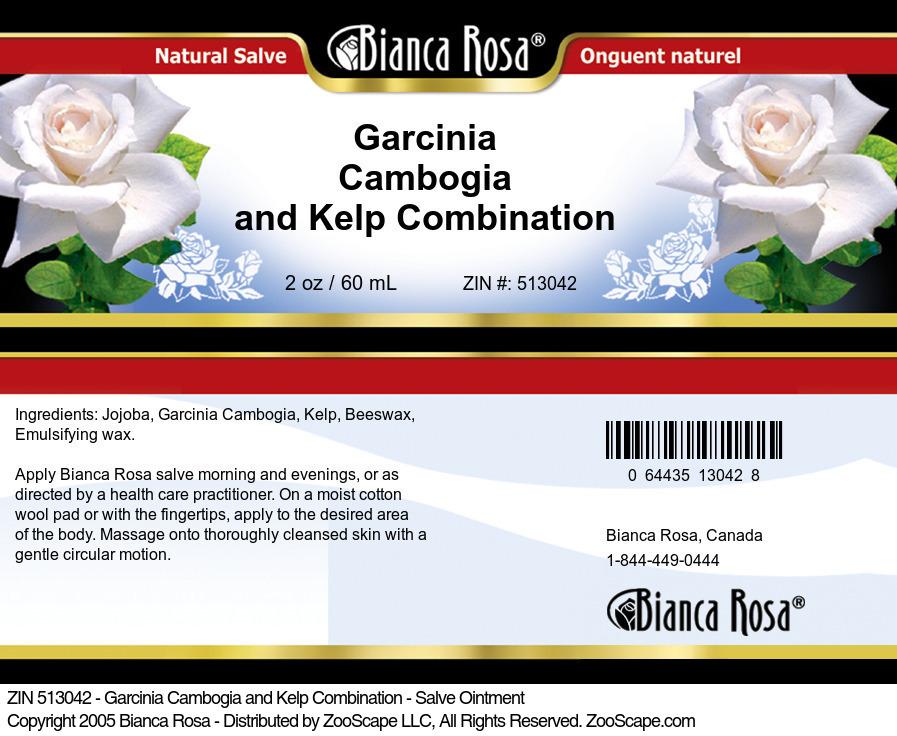 Garcinia Cambogia and Kelp Combination - Salve Ointment