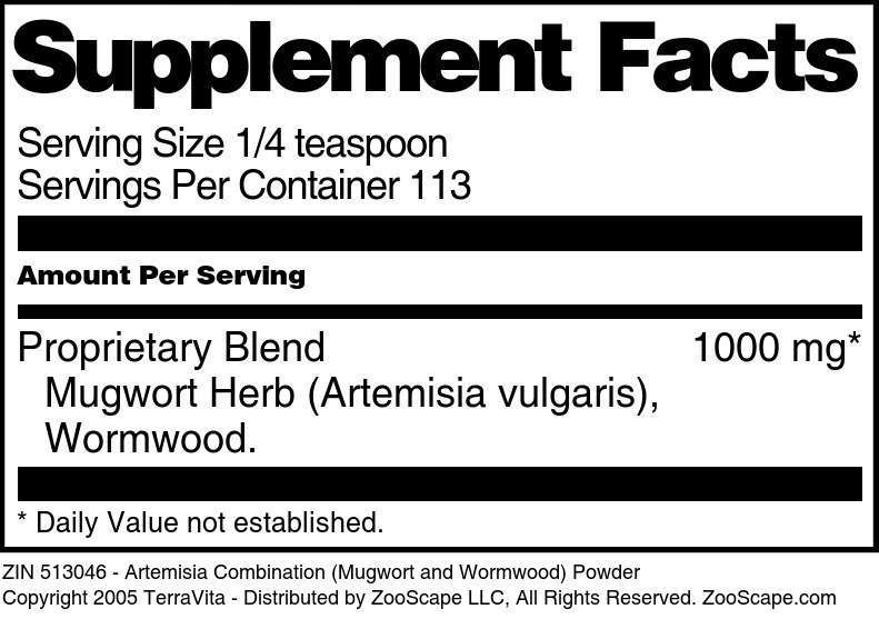 Artemisia Combination (Mugwort and Wormwood) Powder