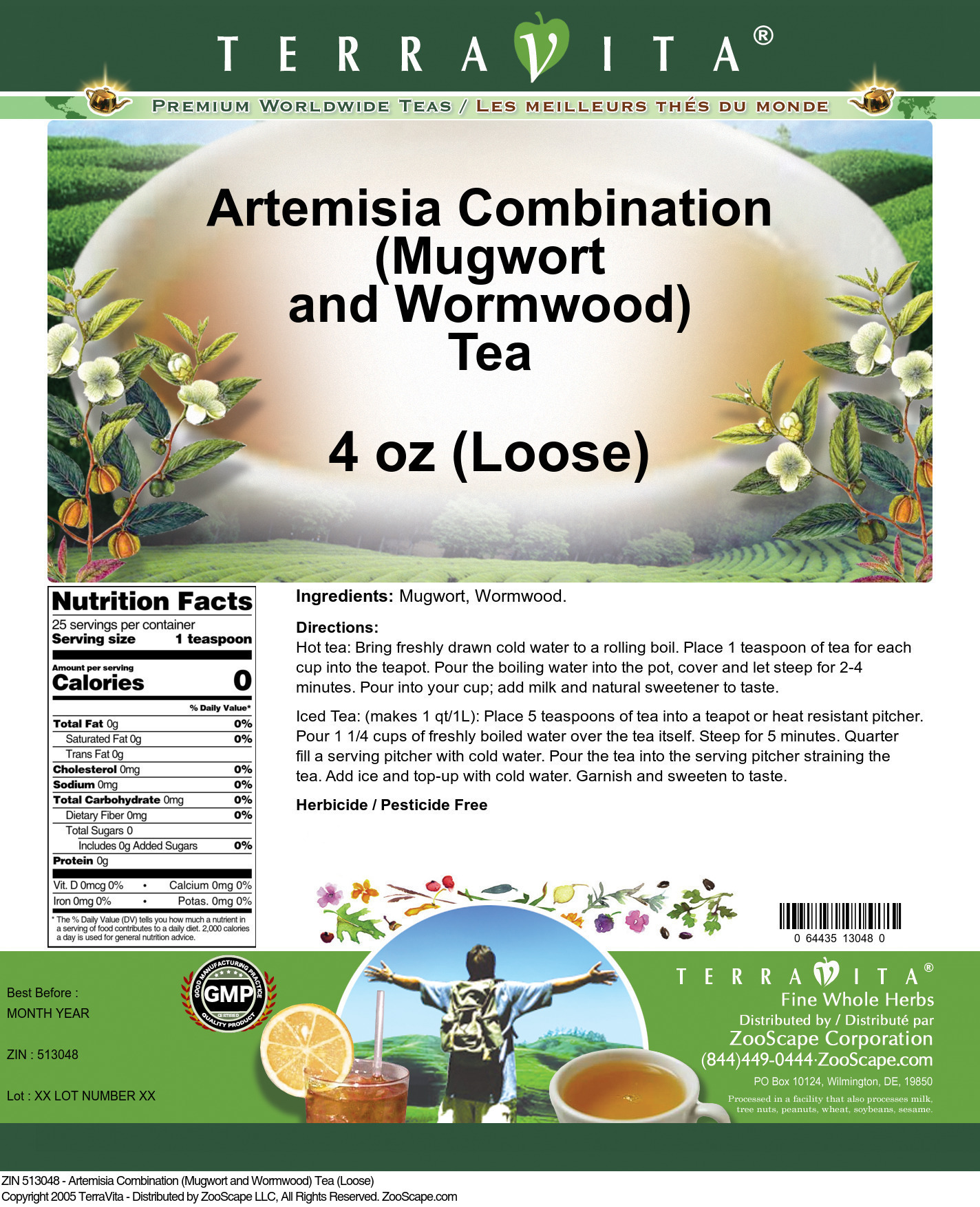 Artemisia Combination (Mugwort and Wormwood) Tea (Loose)