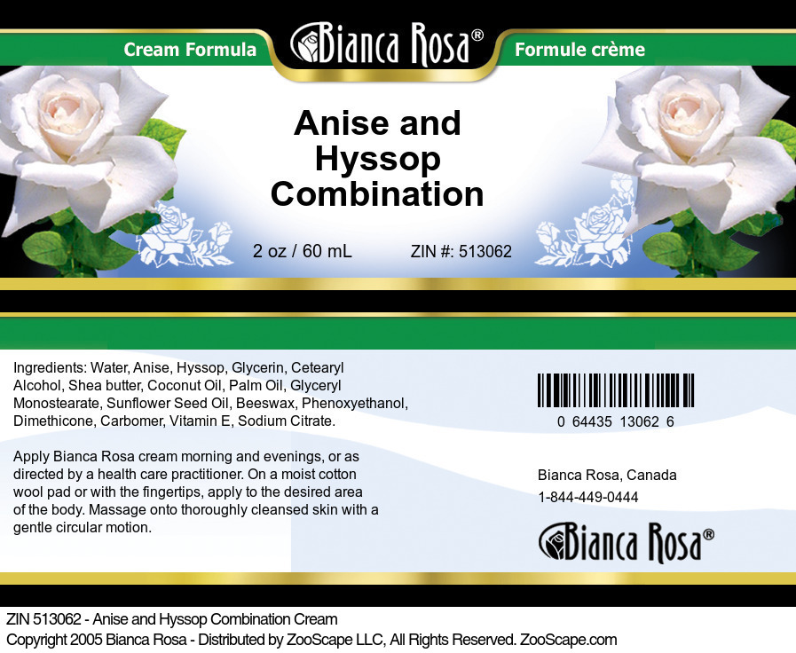 Anise and Hyssop Combination Cream
