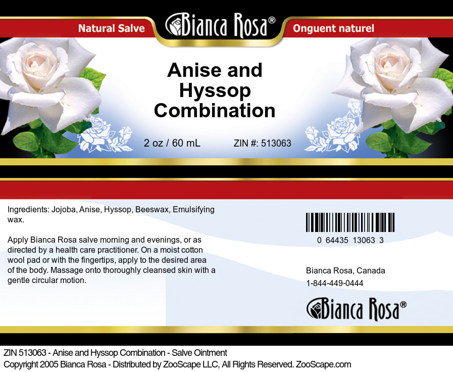 Anise and Hyssop Combination - Salve Ointment