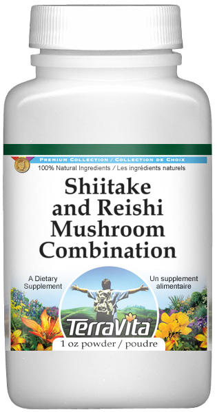 Shiitake and Reishi Mushroom Combination Powder