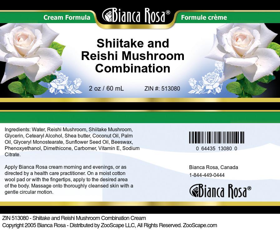 Shiitake and Reishi Mushroom Combination Cream