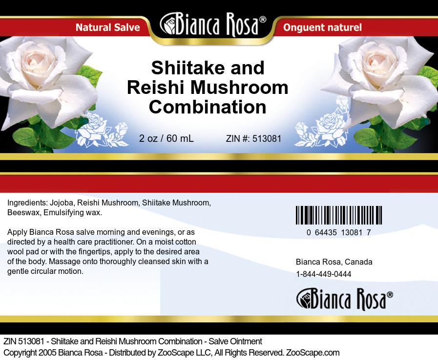 Shiitake and Reishi Mushroom Combination - Salve Ointment