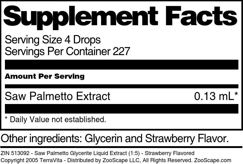 Saw Palmetto Glycerite Liquid Extract (1:5)