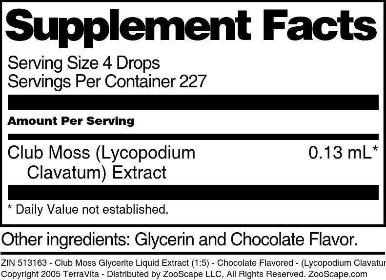 Club Moss Glycerite Liquid Extract (1:5) - (Lycopodium Clavatum)