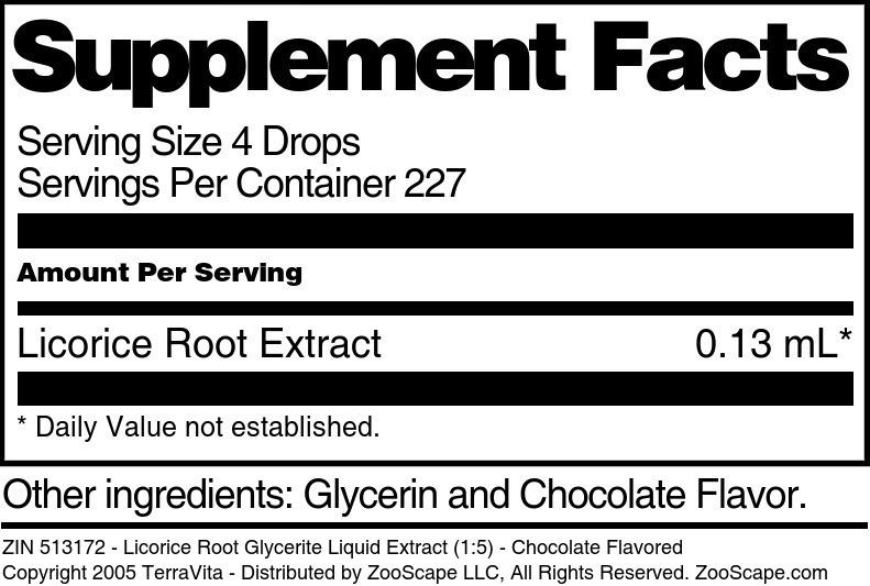 Licorice Root Glycerite Liquid Extract (1:5)