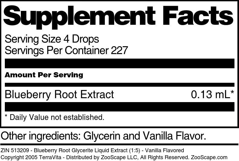 Blueberry Root Glycerite Liquid Extract (1:5)