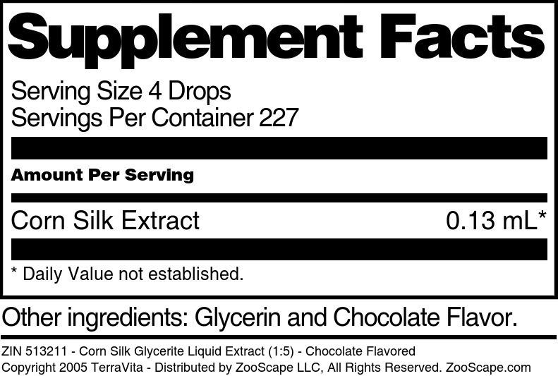 Corn Silk Glycerite Liquid Extract (1:5)