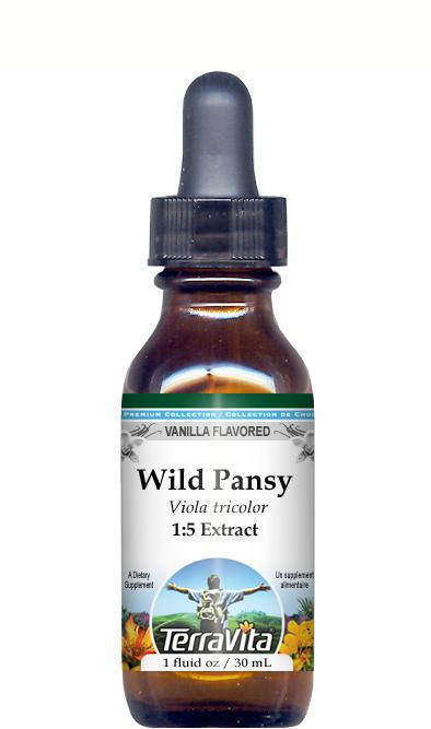 Wild Pansy (Violet, Viola tricolor, Heartsease) Glycerite Liquid Extract (1:5)