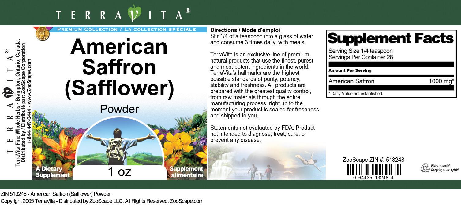 American Saffron (Safflower) Powder
