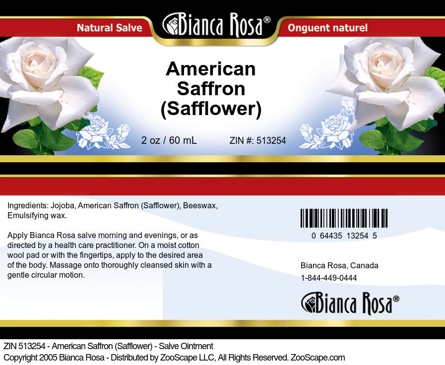 American Saffron (Safflower) - Salve Ointment