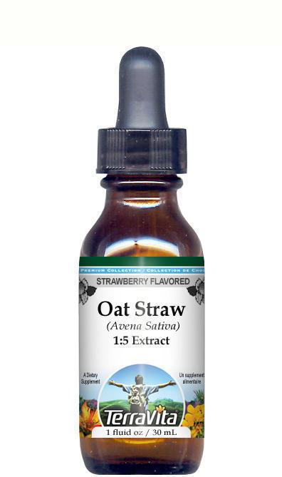 Wild Oat Straw (Avena Sativa) Glycerite Liquid Extract (1:5)