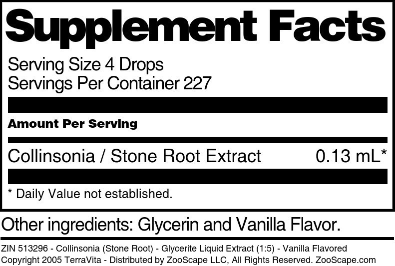 Collinsonia (Stone Root) - Glycerite Liquid Extract (1:5)