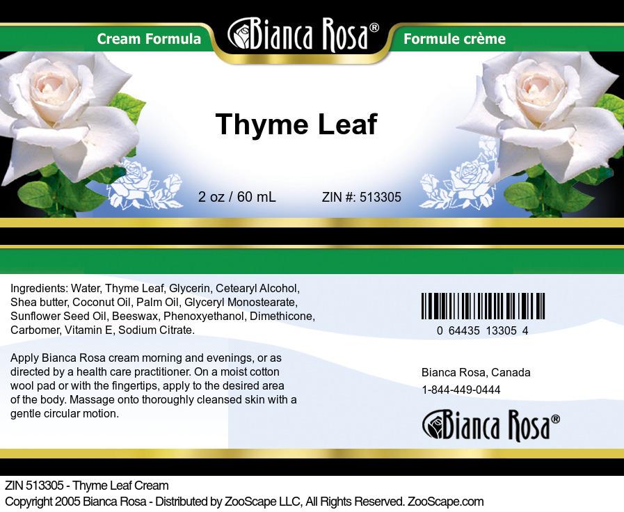 Thyme Leaf Cream