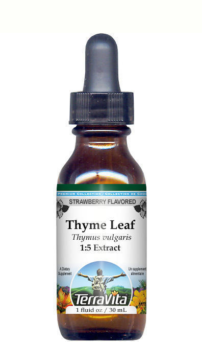 Thyme Leaf Glycerite Liquid Extract (1:5) - Strawberry Flavored