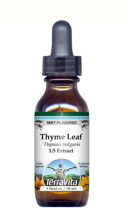 Thyme Leaf Glycerite Liquid Extract (1:5) - Mint Flavored